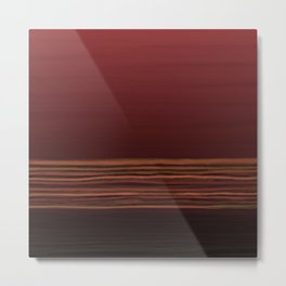 Horizon (red) Metal Print