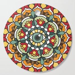 Green Eye Mandala Cutting Board