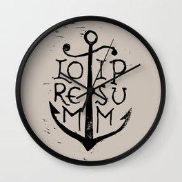 Lorem Ipsum Wall Clock