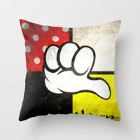 minnie Throw Pillows featuring Mediocre Minnie  by LNTCREATIONS