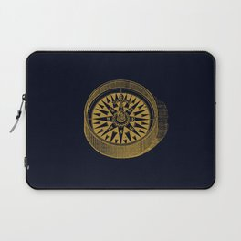 The golden compass I- maritime print with gold ornament Laptop Sleeve