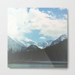 Rocky Mountain Lake Metal Print