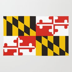 maryland state state flag united states of america country Rug
