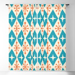 Mid Century Modern Atomic Triangle Pattern 107 Blackout Curtain
