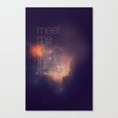 Meet Me in the Stars Canvas Print