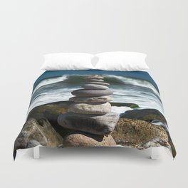 Parting the Waves Duvet Cover