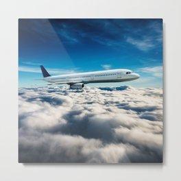 airplane flying Metal Print
