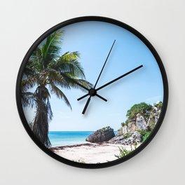 Beautiful Tropical Scenery Wall Clock