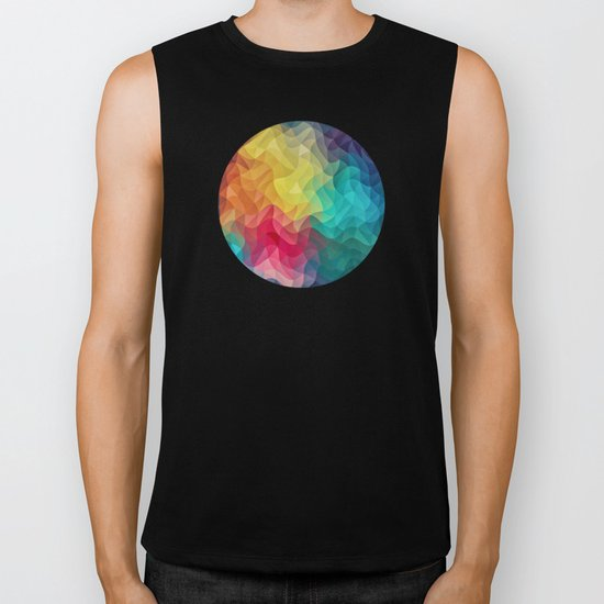 Abstract Color Wave Flash Biker Tank