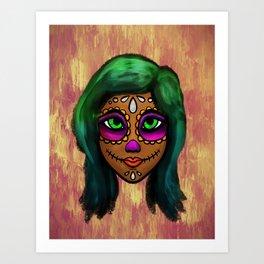 Sugar Skull Sweetie Art Print