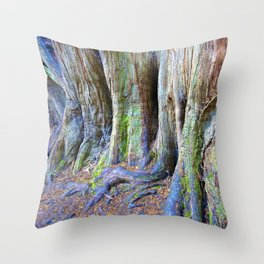 Rainbow Trees Throw Pillow