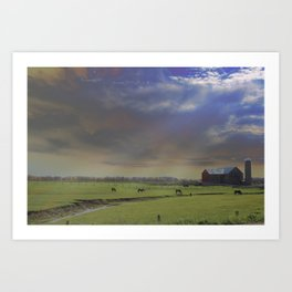Down a Country Road Art Print