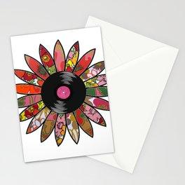 Retro Vinyl Flower Stationery Cards