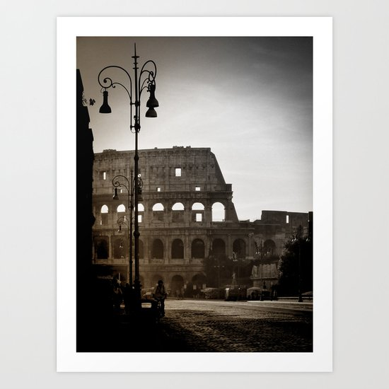 Early Morning at the Coliseum Art Print