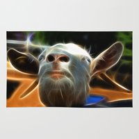 goat Area & Throw Rugs featuring Goat by Veronika