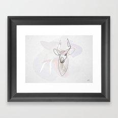 One line Bongo antelope Framed Art Print