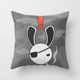 A Big Boss Bunny Throw Pillow