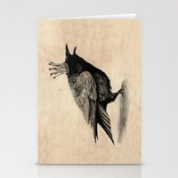 raven Stationery Cards featuring Raven by Anna Shell