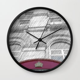 Old Red Box Wall Clock