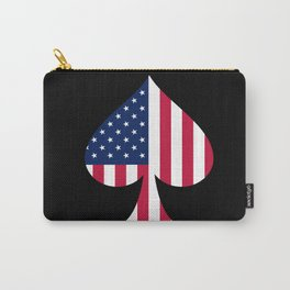 USA American Flag Spade Military Patriotic World War 2 Carry-All Pouch