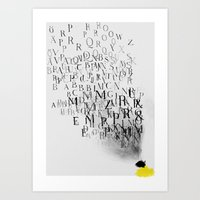 Typography and  the Black Hole Art Print