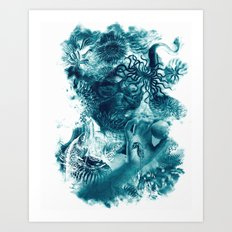 emerging undewater form life Art Print