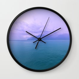 Wild Nature with Lake and Mountains Wall Clock