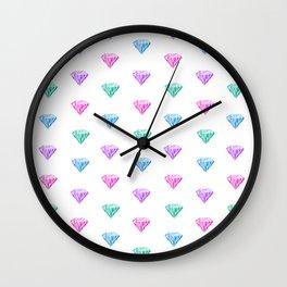 multicolored diamonds Wall Clock