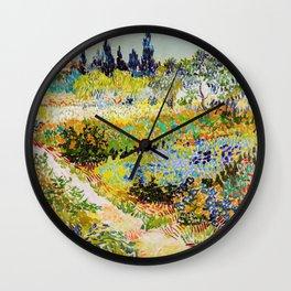 Vincent van Gogh - Garden at Arles Wall Clock