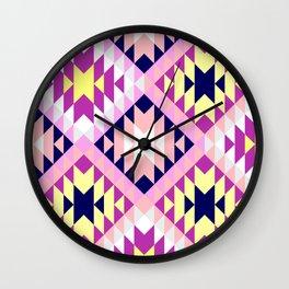 Aztec 3 Warm Wall Clock
