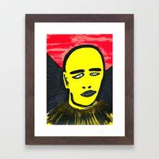 Squinting Framed Art Print