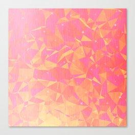 Sunny Flying Geometric Birds Design Canvas Print
