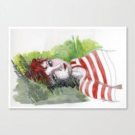 Fox Head Stew - Dee Canvas Print