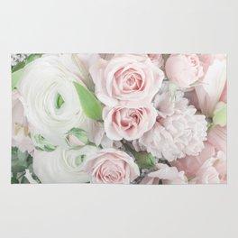 Pastel Pink Flowers Rug