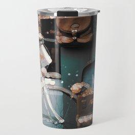 Funky Vintage Abstract Scenery Travel Mug