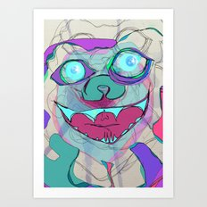 little monster Art Print