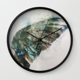 An angel lost its wing Wall Clock