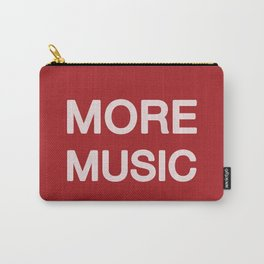 More music -  Red Carry-All Pouch