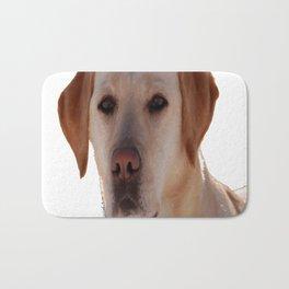 Portrait of A Golden Labrador Dog Bath Mat