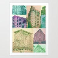 buildings Art Prints featuring Buildings by Sarah Brust