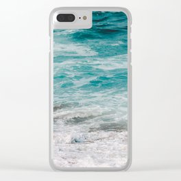 The beach is where I belong Clear iPhone Case