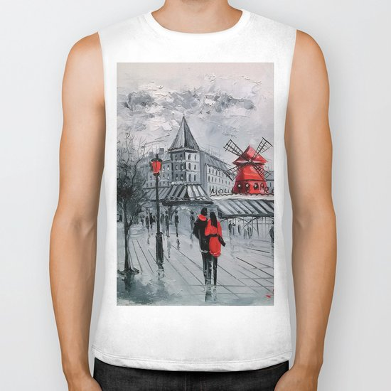 Romance in Paris Biker Tank