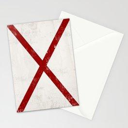 Letter V Sailing Nautical Flag  Stationery Cards