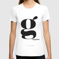 scandinavian T-shirts featuring Letter G, Gorgeous Scandinavian Design Typography by Nordic Print Studio