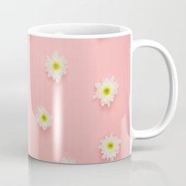 pink background and daisies Coffee Mug