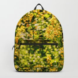 Golden Field of Flowers 2 Backpack