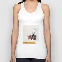 camping Tank Tops featuring Camping Sauvage by Au cabaretdesoiseaux