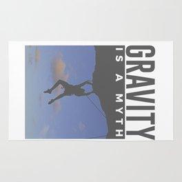 Gravity Is A Myth Rock Wall Climbing Rug