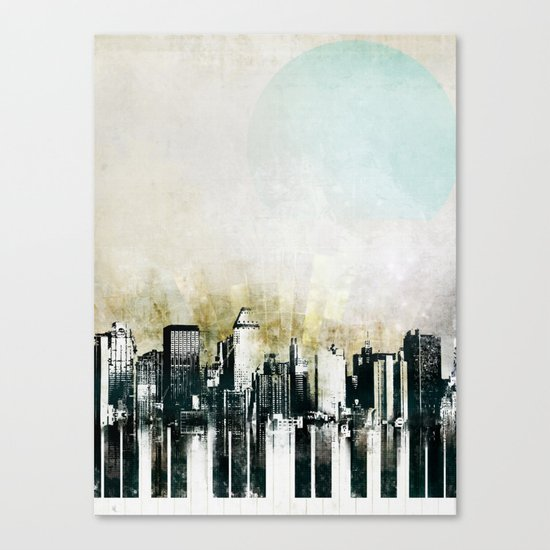 Music of The City Canvas Print
