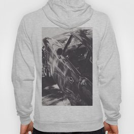 Triumph spitfire, black & white photography, Peter Lindbergh style, english sports car Hoody